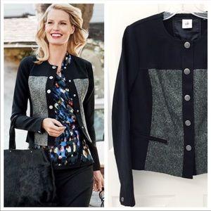 CAbi mixed media jacket blazer